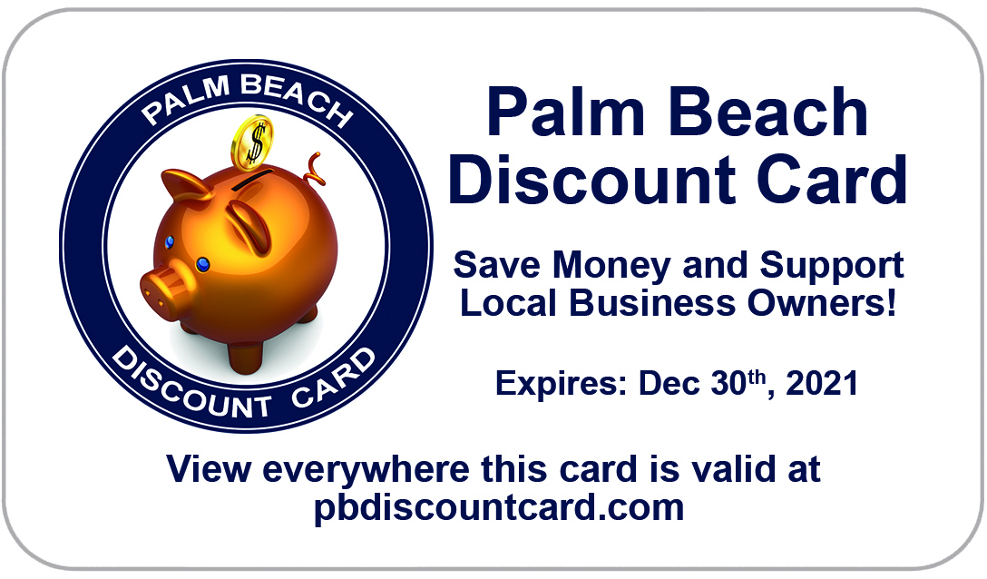 Palm Beach Discount Card Front of card
